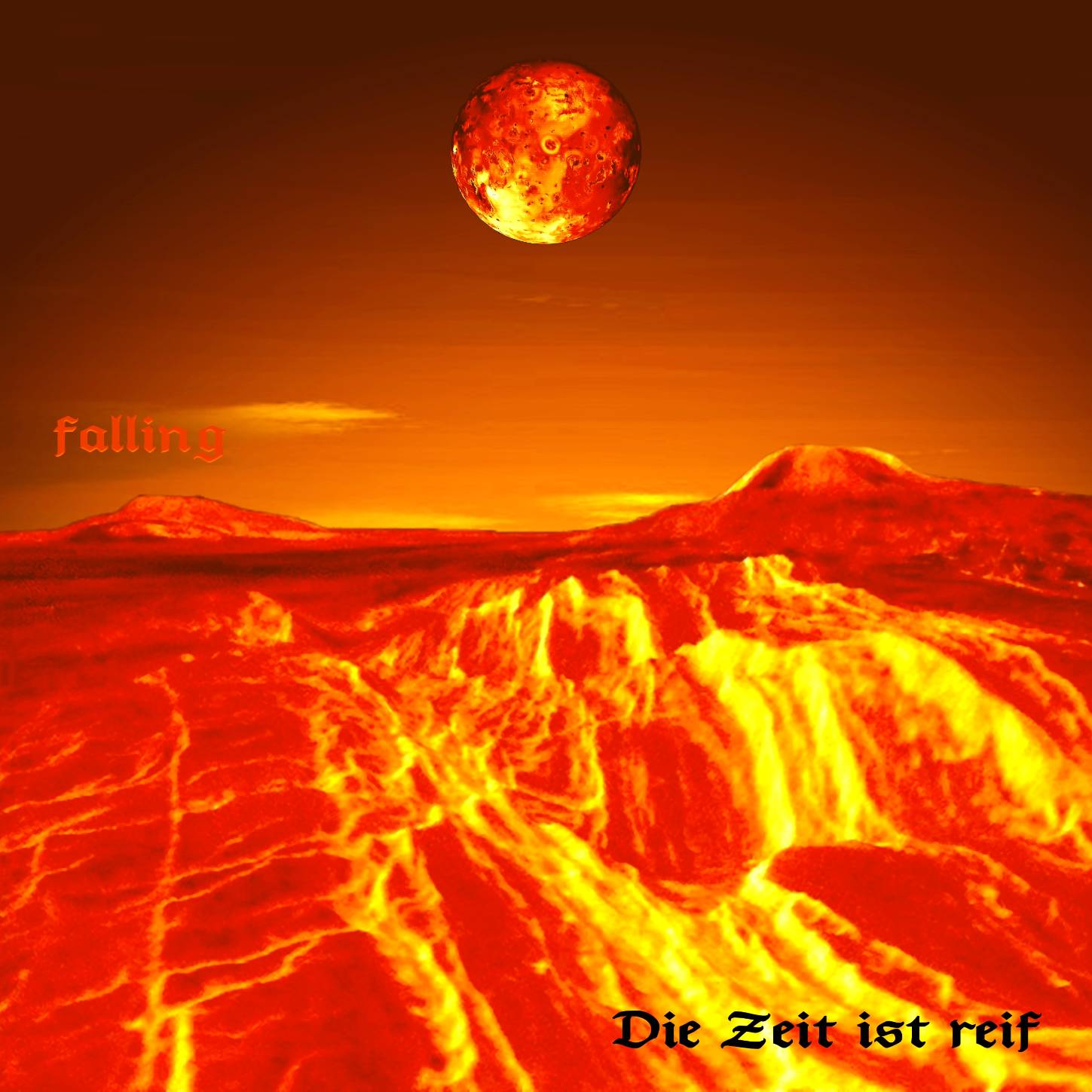 CD Cover - PROJECT FALLING - Die Zeit ist reif